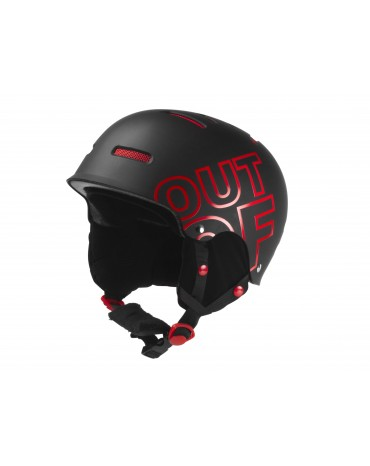 OUT OF Casco WIPEOUT BLACK RED